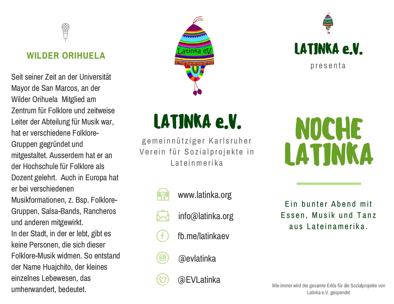Noche Latinka Flyer