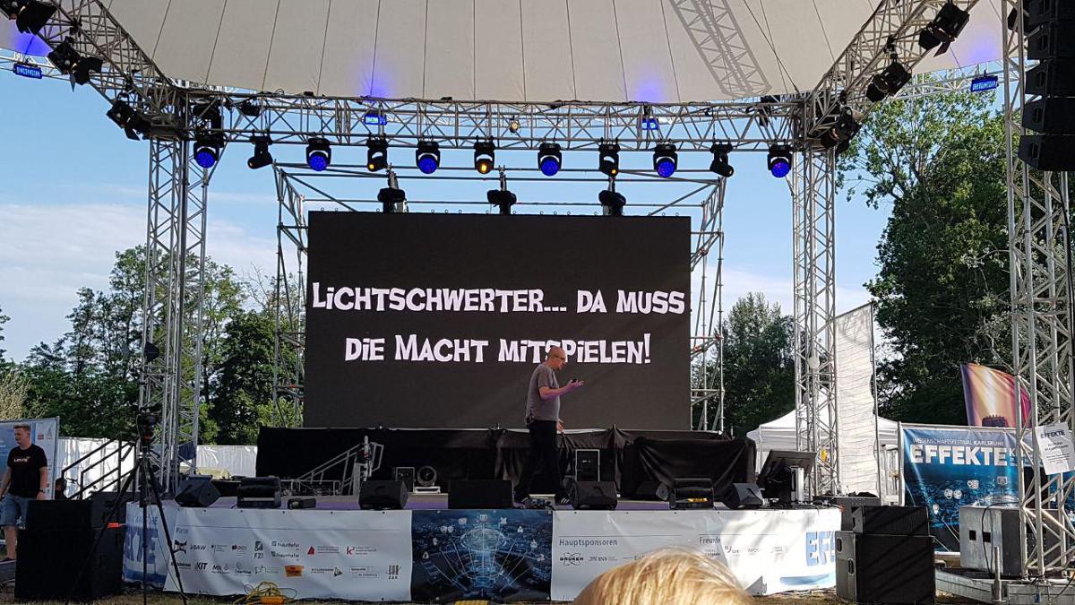 Living in Karlsruhe - Effekte 2019 - Lichtschwert